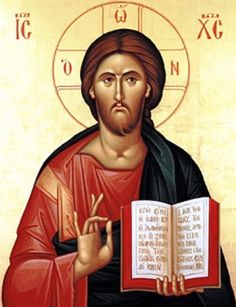 Rare Pantokrator icon with the Lord glancing sideways