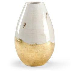 """Kravet Gianna Antiqued Vase, 14""""H (1.270 BRL) ❤ liked on Polyvore featuring home, home decor, vases, kravet, ceramic vases, ceramic home decor and distressed home decor"""