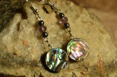 Abalone Earrings, Handmade Shell Jewelry, Gift Ideas for Her from The Hidden Meadow