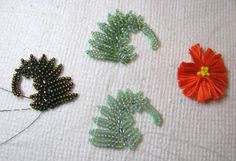 "Beading Arts: ""I found these brilliant little fern shapes in Melissa Grakowsky's book I Can Herringbone"""