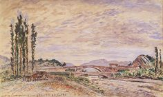 The Pont De Lesdiguieres Near Grenoble 1883 by Johan-Barthold Jongkind Art Print on Canvas Magnolia Box Size: Extra Large Frames On Wall, Framed Wall Art, Framed Art Prints, Canvas Prints, Watercolor On Wood, Watercolor Print, Painting Frames, Painting Prints, Paintings