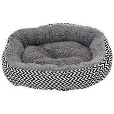 Delight eShop Soft Round Pet House Bed Warm Dog Cat Puppy Kennel Cushion Striped Pad 2 Color (Black and White) ** Want additional info? Click on the image. (This is an affiliate link) #BedsFurniture