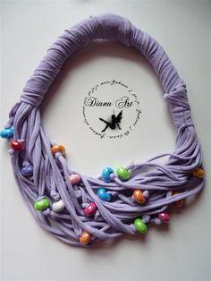 Diana Art : Roczek i tutorial na naszyjnik z bawełny