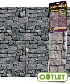 Kingdom Rock VBS | Stone Wall Plastic Backdrop | An affordable way to solidify your theme—transform every wall and hallway into a castle fit for your royal subjects. #VBS