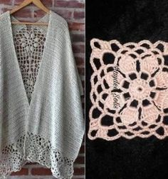 10 Adult Size Us Melu Crochet Ideas Crochet Collar Pattern, Crochet Shawl Diagram, Crochet Stitches Patterns, Crochet Designs, Crochet Pouf, Crochet Jacket, Crochet Doilies, Easy Crochet, Mode Crochet