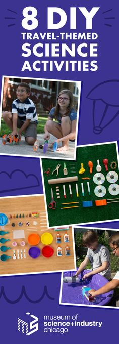 Fun and easy DIY science from the Museum of Science and Industry, Chicago Science For Toddlers, At Home Science Experiments, Science Fair Projects, Science Ideas, Science Activities, School Tool, Brain Games, Travel Themes, Fourth Grade