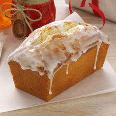 Lemon Pound Cake Loaves-- It has a rich cake-like taste with a sweet and tangy flavor.