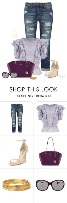 """""""Frilly"""" by ksims-1 ❤ liked on Polyvore featuring Current/Elliott, Étoile Isabel Marant, Neiman Marcus, Furla, Bold Elements, Tom Ford and Lana"""