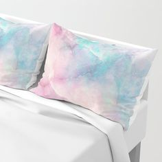 Iridescent marble Pillow Sham by cafelab Girly Bedroom Decor, Bleu Cyan, King Size Pillow Shams, Bed Pillows, Ultra Violet, Iridescent, Memory Foam, Marble, Just For You
