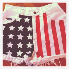 DIY American Flag Shorts DIY Clothes DIY Refashion