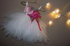 AMARA White Lace Tulle Flower Girl Dress by AtelierArtistia