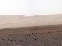 El Curiosity en Marte: una pared del cráter Gale