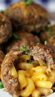 Mac & Cheese Stuffed Meatballs