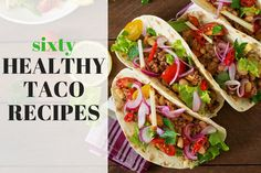 With each taco stuffed with unique ingredients, these super-easy tacos simplify your day. Deep in flavor and rich in filling, keep things simple with these tacos! 7 Quick and Healthy Taco Fillings. Healthy Taco Recipes, Healthy Tacos, Beef Recipes, Mexican Food Recipes, Cooking Recipes, Ethnic Recipes, Detox Recipes, Healthy Meals, Veggie Tacos