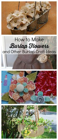 Link Love: How to Make Burlap Flowers and Other Burlap Craft Ideas