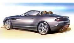 BMW Zagato Roadster - Design Sketch