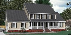 House Plan 3120-B Pendleton B elevation
