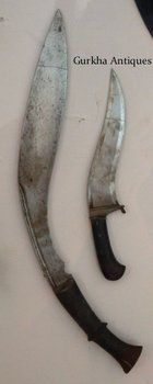kaji amari singh thapa anglo nepal war weapon khukuri musuem Hanshee Lambendh Gorkhali Kukri (khukuri).  18th-19th century  North India  - Nepal  Overall 54 cm, Blade 40 cm, Handle 16,5 cm, Drop 12,5 cm.  The long handled Kukri knife goes under the name of Hanshee or Lambendh. It is known to be a warrior / martial Kukri that was used in the battles and wars until the mid 1800´s.  It is a most difficult Kukri to find.    Part of the criteria is the handle`s length is over 13 cm, here we have…