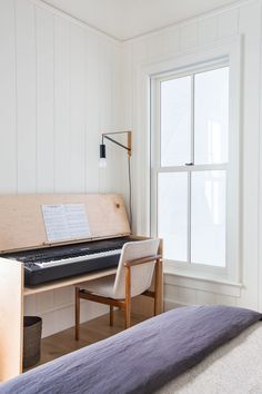 Client for Reals the Nicest People on the Planet | Amber Interiors Piano Table, Piano Desk, Keyboard Piano, Keyboard Cover, The Piano, Piano Room Decor, Amber Interiors, Interior Design Studio, My New Room