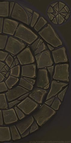 Bricks circle texture