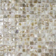 shell tiles natural seashell mosaic mother of pearl tile kitchen backsplash tile design Mosaic Art, Mosaic Tiles, Wall Tiles, Backsplash Cheap, Tile Design, Kitchen Backsplash, Wall Sticker, Sea Shells, Pearls