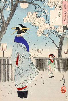 月岡芳年 - 月百姿 廓の月 (1886) ID:201402251200