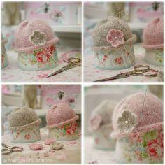 New A Tearoom Doll Hat/ PDF Knitting Pattern/ by maryjanestearoom