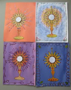 Jesus in the Eucharist ~ Monstrance Art Project | Catholic Inspired ~Arts, crafts, games, and more!