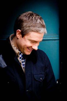 Martin Freeman (John Watson in Sherlock) Sherlock Bbc, Sherlock Fandom, Watson Sherlock, Benedict Sherlock, Benedict Cumberbatch, Sherlock Cumberbatch, Martin Freeman, Amanda Abbington, Benedict And Martin