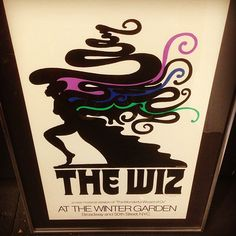Iconic #1970s imagery by #miltonglaser for #thewiz . First edition. Framed. #geoffreyholder #vintage #broadway #nyc #graphicdesign