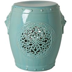 InStyle-Decor.com Beverly Hills Chinese Medallion Garden Stool / Side Table  Inspiring Interior Design Fans With Home Decor Ideas From Hollywood Enjoy & Happy Pinning