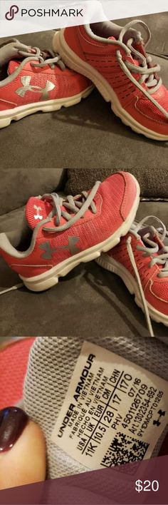 Girl/'s Pink Under Armour Athletic Shoes UA Micro G® Assert V SZ 7.5 NEW