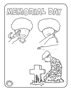 new memorial day coloring page in asl
