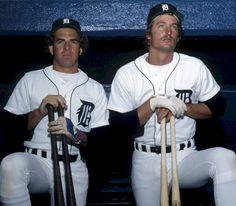 Two Tiger sluggers Out fielder. Center Fielder Steve Kemp (left) and First baseman Jason Thompson (right)