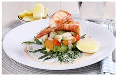 Hulett's recipe for Grilled Prawn Salad a light meal perfect for a summers night. Prawn Salad, Cobb Salad, Grilled Prawns, Roasted Butternut, Just Cooking, Arugula, Red Peppers, Light Recipes, Kitchen Recipes