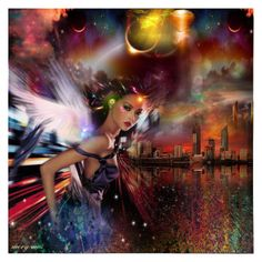 An art collage from January 2016 Collage Art, Collages, Undercover, Wonder Woman, Polyvore, Anime, Elves, Fairies, Design