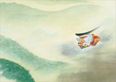 画像1: 絵はがき  小林古径「清姫」(部分)