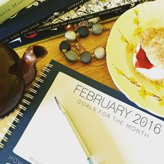 Blank page for February - what are your #business #goals for the new month?    www.whiteacresdesign.co.uk/goalsetting