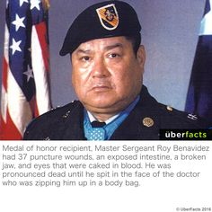 Pronounced dead until he spat in the doctors face Weird Facts, Fun Facts, Uber Facts, Quizzes Games, Medal Of Honor Recipients, Master Sergeant, Curious Facts, Unbelievable Facts, The More You Know