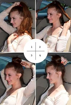 The Four-Step Bun | 23 Five-Minute Hairstyles For Busy Mornings