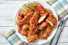 I Petti di Pollo in Panatura di Patate sono un gustoso secondo piatto facile e veloce da realizzare, ideale per un pranzo o una cena in famiglia. Tandoori Chicken, Chicken Wings, Grains, Ethnic Recipes, Food, Dinner, Essen, Meals, Seeds