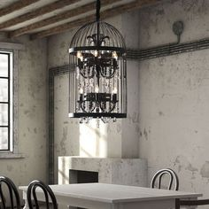 Birdcage chandelier. Kinda awesome.