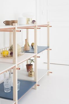 DIY pastel shelves - Heju