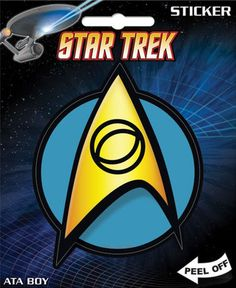 d93e990b0 AtaBoy Star Trek Science Insignia 4 Full Color Sticker >>> Find out more  about