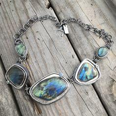 Sterling Silver Labradorite Necklace By Wild Prairie Silver Jewelry
