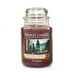 Mountain Lodge Yankee Candle Company Large Jar Candles A luxurious retreat in front of a cozy hearth, warm with the aroma of cedarwood and sage Yankee Candle Scents, Yankee Candles, Scented Candles, Candle Jars, Homemade Candles, Candle Holders, Candle Diffuser, Home Scents, Candels