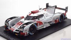 Le Mans Spark 1:18 Audi R18 e-tron Quattro No.7, 24h Le Mans Fässler/Lotterer/Treluyer 2015   www.modelissimo.de