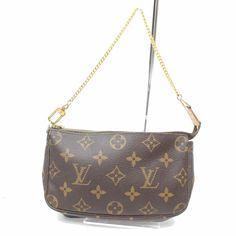 abcec88042e1 Authentic Louis Vuitton Messenger Bag Mini Pochette Accessoires M63798  256351  fashion  clothing  shoes