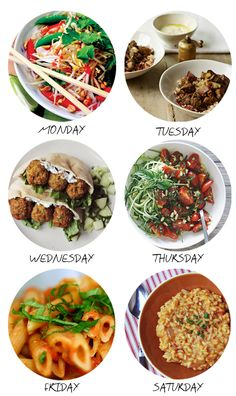 6 Vegetarian Recipes for a full week - Rooftop Antics dinner Veg Recipes, Whole Food Recipes, Vegetarian Recipes, Cooking Recipes, Healthy Recipes, Yummy Recipes, Tasty Meals, Healthy Meals, Salad Recipes
