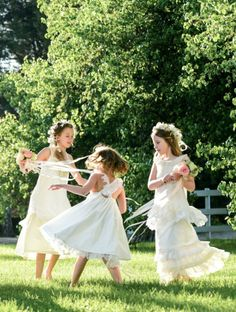 Flower Girl Designer Dresses available in the Cedarwood Style Shop | Cedarwood Weddings